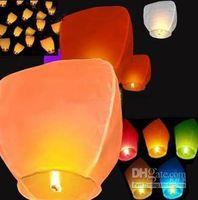 Promotional Toy Easter  Coloured Sky Lanterns Chinese Fay Balloon Christmas gift Wishing Lamp Festive Decorative Lanterns