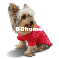 Wholesale Dog Pet Clothes Bright Coral Sweater Cotton No Minimum Order Discount from pieces