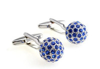 Wholesale 5pcs new fashion Crystal ball cufflinks cuff links for men copper Set auger Cuff Links XD21