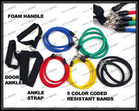 Wholesale Latex Tube Resistance Bands Pull Rope Fitness Exercise Stretch Rope Workout Set