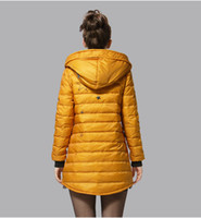 Wholesale Christmas and Halloween Women s long Down Jacket DOWN outerwear Winter parka Fur Hooded Long Dress black yellow red pink green colors