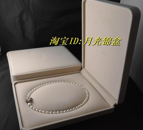 White Jewelry Box For Necklaces High quality pink velvet necklace