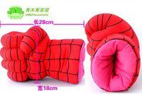 Wholesale Children s boxing Spider man boxing glove hulk gloves plush cartoon children warm gloves in winter