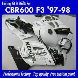 Fairing bodykit for HONDA CBR600 F3 97 98 CBR 600 F3 1997 1998 CBR 600F3 97 98 white black Repsol custom fairings set