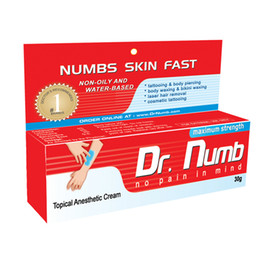Wholesale Sales g DR Numb Anaesthetic Cream For Tattoo Gun Needle Ink Cups Grips Kits by express