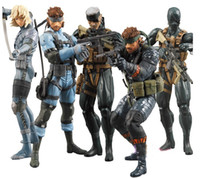 Wholesale Retail Game Toys Metal Gear Solid Action Figure Solid Snake PVC Figure Toys Dolls set of High Quality Gift