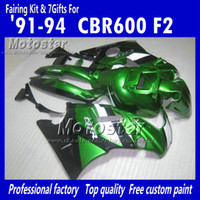 Wholesale Motocycle fairings for HONDA CBR600 F2 CBR600F2 CBR glossy green black custom fairings set UU20