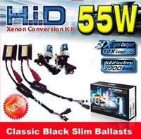 Wholesale 12V W Auto XENON HID Conversion Kit H1 H3 H4 H7 H8 H9 H10 H11 H13 HB1 HB3 HB4 HB5 D2S Single light beam K K HID xenon kit