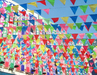 Wholesale retail size S length meter mulit colors hang pennant flags for Birthday Wedding Party Promotion Decoration gift craft DIY