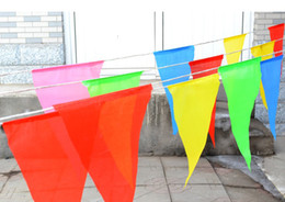 retail size M length 30 meter mulit colors hang pennant flags for Birthday Wedding Party Promotion race Decoration gift craft DIY