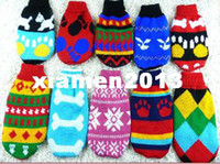 Wholesale new Pet Dog Cat Sweater Dog Winter Clothes Clothing Mix Color Size XS S M L XL