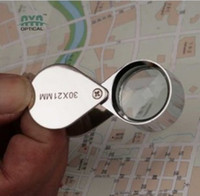 Wholesale 30x mm Jewelers Eye Loupe Magnifier Magnifying Glass free shippin with tracking number