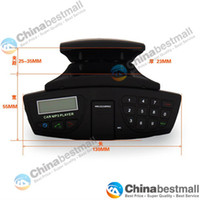 Wholesale Steering Wheel Bluetooth Car Kit LCD Screen Bluetooth Hands free System with FM Car MP3 Player Bluetooth Headset