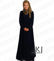 Wholesale Dubai Pearl chiffon gown KJ Muslim Arab Middle East exports Islamic Muslim women robe