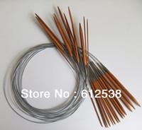 bamboo circular needles - Knitting Needles hand needle Pairs cm quot Circular Smooth Bamboo Knitting Needles Sets mm mm Size