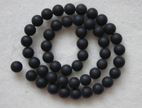 Wholesale Brand New mm Matte Black Onyx Round Loose Beads inch