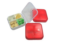 6.5*6.5*2.15cm   Package mail-Super Compact Travel Pill Container Foldable Medical Pill Case Organizer Box 222