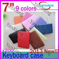 Wholesale 200pcs New colours Inch leather case keyboard for quot Q88 N77 tablet pc RW L11