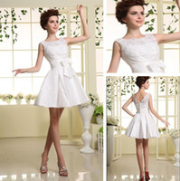 A-Line Taffeta Modern Wholesale -The Newest Cocktail Dresses Bows lace Homecoming Dresses Cheap Sexy Beaded Party Dresses 2013 Short Prom Gowns