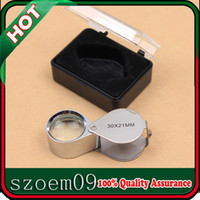Wholesale 30x mm Eye Loop Foldable Jewelry Jewellers Magnifying Glass Magnifier Loupe