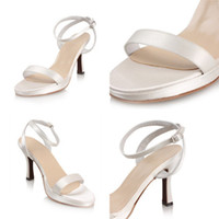 Dress Rubber Chirstmas 2013 New Simple White Ivory High Heels 8cm Buckle Satin Women's Shoes Prom Party Dress Shoes Sandals Cheap On Sale