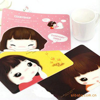 Wholesale C033 hot selling girl korea stationery cartoon mouse pad