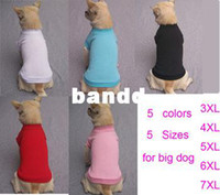 Wholesale 2013 New arrival Large Size Sports pet dog clothes clothing dog T shirt solid colors Size XL XL XL XL XL for big dogs