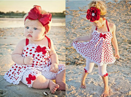Wholesale Hot selling Sling love girls two Piece suit skirt pants Baby Suits Bow Children summer clothing kids set clothes gifts