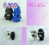 Wholesale 60pcs GB Star Wars R2 D2 Robot Cartoon Black Knight USB Flash Memory Pen Drives Sticks Disks GB Pendrives Thumbdrives B092O