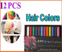 Wholesale 2013 Women s Fashion Non toxic Temporary Color Hair Chalk Dye Paste Chalk Bug Rub Soft Fencai Bar Pieces set