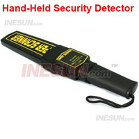 Wholesale Professional Airport School Security Hand held Metal Detector Body Scanner Switch on off audio prompt function