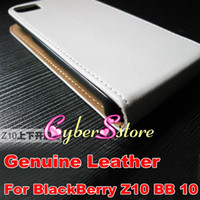 Wholesale 35pcs Luxury Verticle Genuine Real Flip Leather Pouch Case Cover For BlackBerry Z10 BB