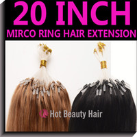 Wholesale cheap loop micro ring hair extensions g strand human remy hair color1b inch