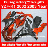 Free 7 gifts ABS Plastic fairing kit for YAMAHA YZFR1 2002 2...