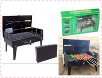 Wholesale Collapsible Portable Charcoal BBQ Grill Outdoor Self Service Barbeque Grill Outdoor Necessary Retail Package APPA0743