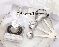 wedding souvenirs - Wedding souvenirs Simply Elegant quot Love Beyond Measure quot Heart Shaped Stainless Steel Wedding Measuring Spoons For party giveaways sets