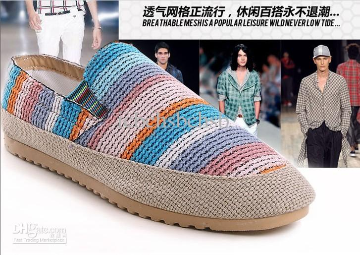 Online Cheap Men Shoes Online Canvas Casual Shoes Rainbow Style Rubber Sole Mix Low Price 1prs 0404s11 By Icbchsbchsb | Dhgate.Com