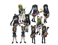 Wholesale K ON figure Set of Cute Anime K ON Mio Akiyama PVC figure toy Set