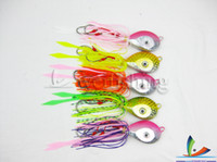Wholesale Fishing Jig head Fishing jigs with skirt and hooks Lead fishing lures g