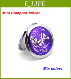 Wholesale Best Price CD Veins colorful cosmetic pocket compact stainless makeup mirror small gifts