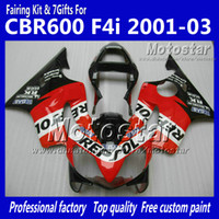Wholesale 7 Gifts fairings bodywork for HONDA CBR600F4i CBR600 F4i CBR F4i red black Repsol motorcycle fairing UU101