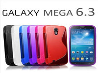Silicone For Samsung  Grip S Line Silicone TPU Gel Case Cases Cover Shell for Samsung Galaxy Mega 6.3 I9200