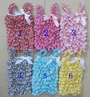 Wholesale summer new fashion chevron romper lace petti ruffle rompers for baby girls infant kids chevron lace bubble rompers