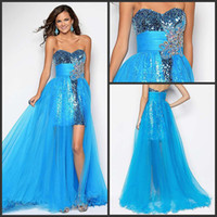 Wholesale 2013 Modern Young Girls Pageant Dresses Sweetheart Sheath Ice Blue Tulle and Sequined Fabric Latest Prom Dresses Gowns