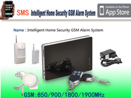 Wholesale New iOS Andorid Apps Supported Smart Wireless Wired Burglar GSM Home Security Alarm System Remote Control by SMS Calling