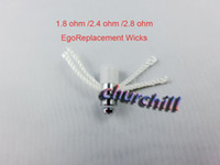 Atomizer Core best resistors - DHL free white ohm ohm ohm Ego Resistor Replacement Wicks For eGo E Cig CE4S CE5 Atomizer Best Service from churchill shop