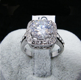 Anillo chapado en oro, 5 colores simulado grande de la piedra preciosa de los anillos de dedo del diamante, la mujer de cristal de Swarovski estampadas joyas de oro lleno de la manera 18KGP