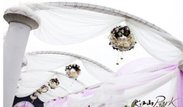 Wholesale 1 roll cm Width Meters Long curtain Organza voile sheer fabric for wedding backdrop decorations color u pick