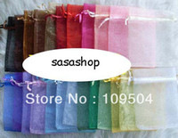 Valentine's Day Organza Bag Gift Bag Free Shipping 100pcs 7x9 cm Mix Color Nice Chinese Voile Christmas   Wedding Gift Bag Organza Bags Jewelry Gift Pouch