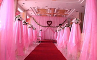 Wholesale 1 roll cm Width Meters Long curtain Organza voile sheer fabric for wedding backdrop background decorations color u pick